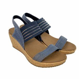 Skechers Beverlee-Smitten Slingback Wedge Sandal 7